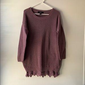 Forever 21 lavender oversized sweater